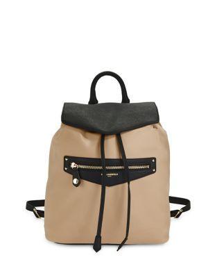 Karl Lagerfeld Paris - Leather-Trimmed Nylon Drawstring Backpack ... 6ba0bd0d2af