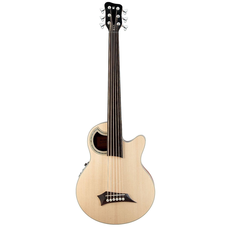 Warwick RockBass Deluxe Alien Acoustic Natural Fretless 6 String Bass