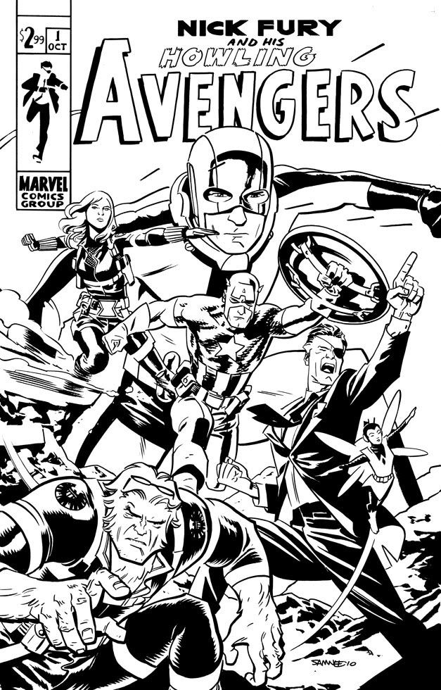 Free Nick Fury From Avengers Coloring Pages: HOWLING AVENGERS