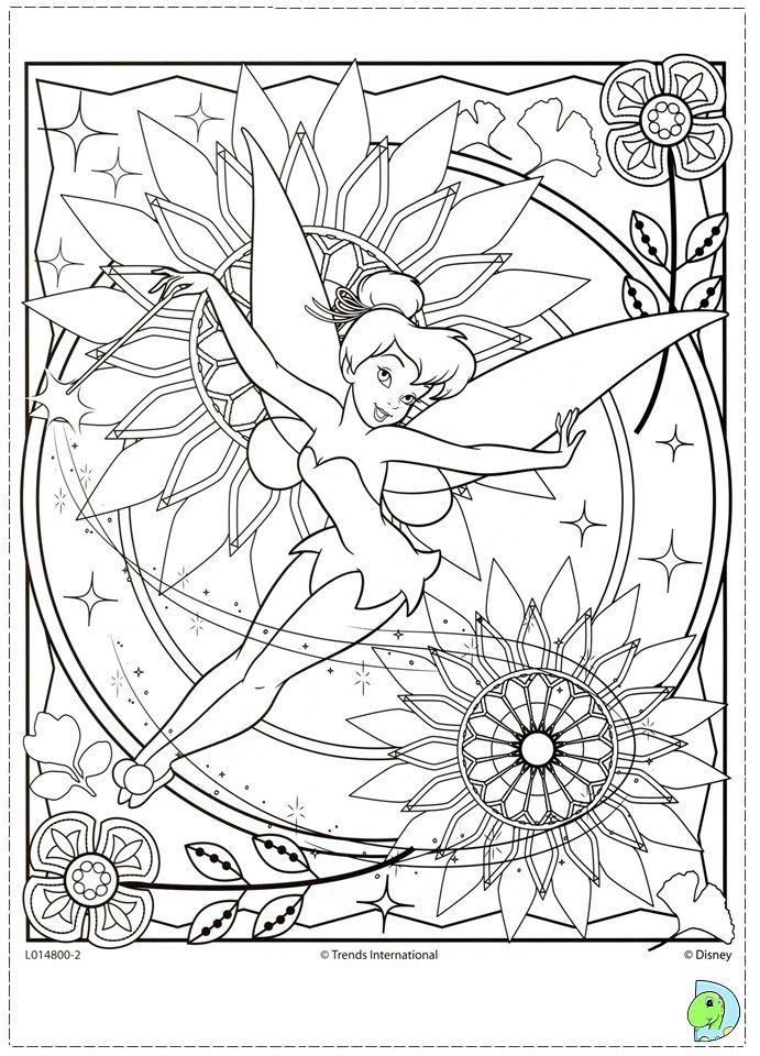 Tinkerbell Coloring Page Dibujos Para Colorear Disney Mandalas