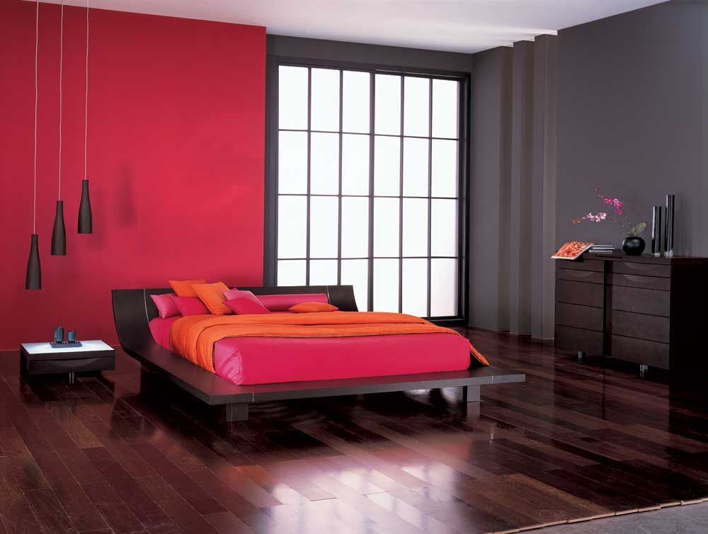 black and red lacquered wood high end platform bedroom | European Furniture, Modern Bedrooms, Contemporary ...
