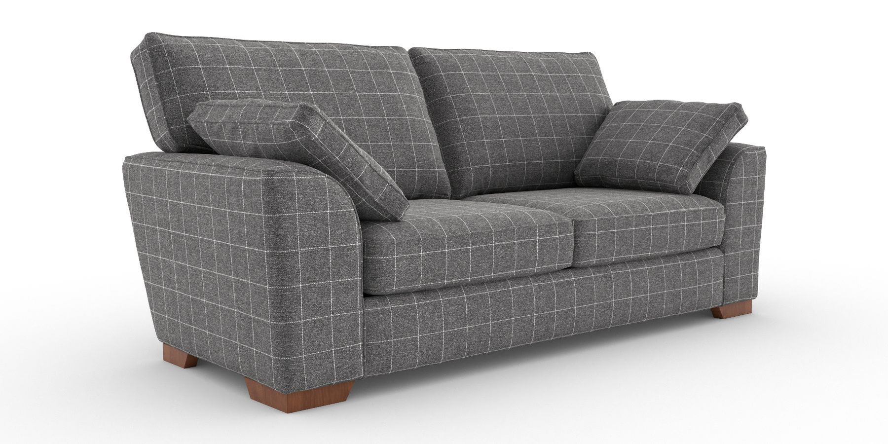 Buy Stamford Large Sofa 3 Seats Tweedy Check Lawson Mid Grey Large Square Angle Standard From The Next Uk Online Shop Large Sofa Sofa Love Seat