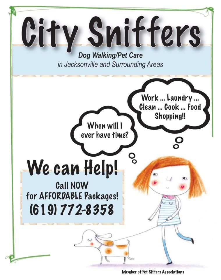 Custom business flyers! Dog walking, pet care, child care