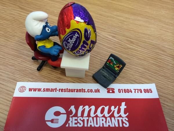 Smart Restaurants Smallest Employee with his Creme Egg!