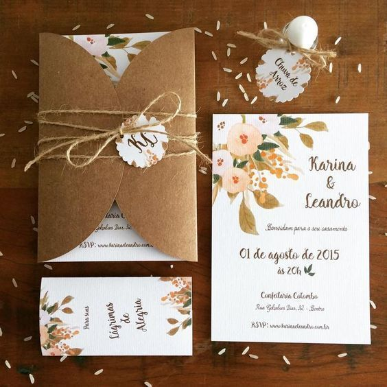 Elegant blush wedding invitations cheap, pink watercolor floral with greenery, rustic weddings
