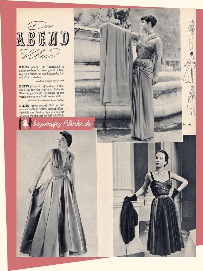 Abendkleider! | costume | Pinterest | Mode der 40er, Mode der 50er ...