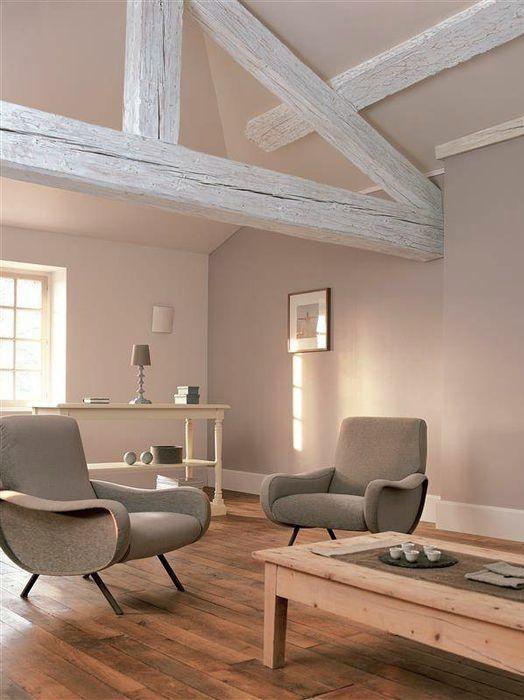 Le mur beige, un classique qui fait son grand retour | Salons, Attic ...