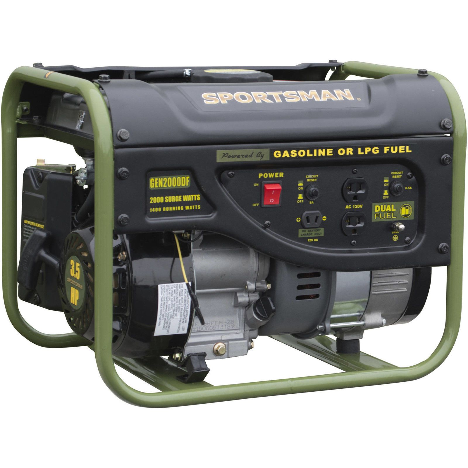 BEST PRICING FREE SHIPPING HIGH QUALITY Dual Fuel Generator 2000