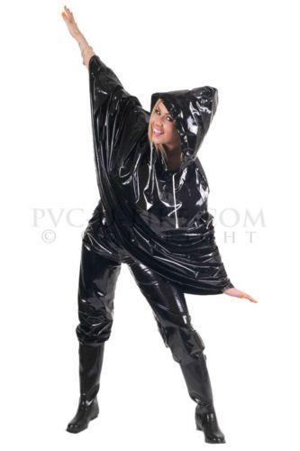 PVC-Plastik-Regencape-Cape-Poncho-Gummi-geschlossen-CA04-BKS1-schwarz-glaenzend