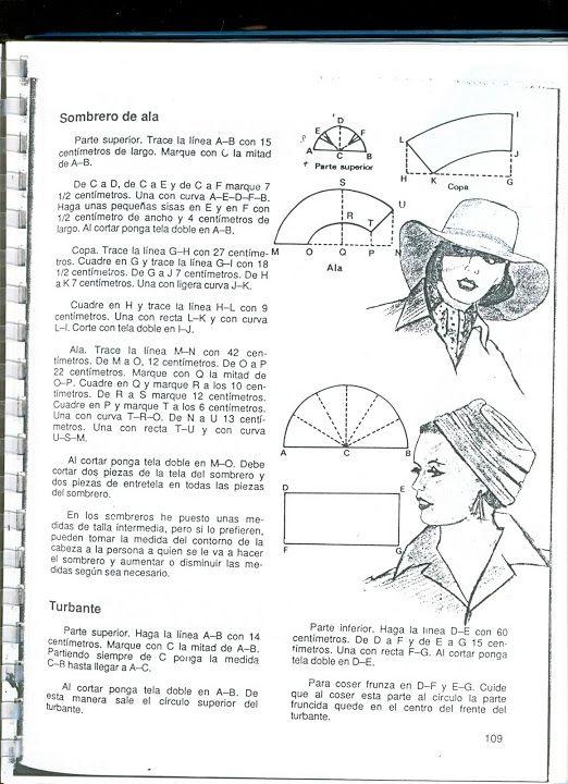 trazo de patrones - sombrero, turbante - Picasa Web Albums ...