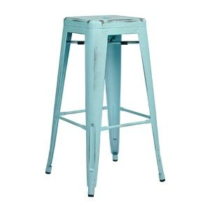 Bristow Antique Sky Blue 26 Inch High Metal Barstool, Set Of 4 Office Star Products Bar He