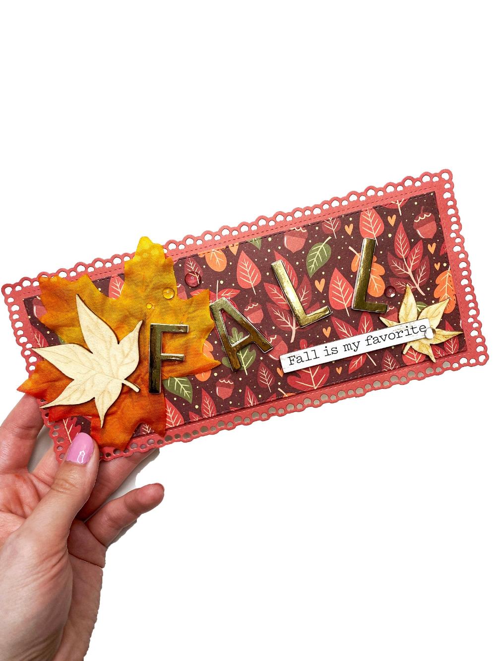 Fall Slimline Card, Autumn Cards, Fall Card, Fall