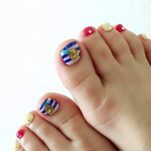 25 Toe Nail Designs That Scream Summer Stayglam Beauty Pinterest