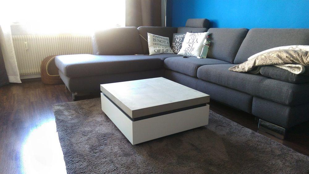 unser couchtisch divano im wohnzimmer schon sieht es aus http www arrangio de betoncouchtisch divano html