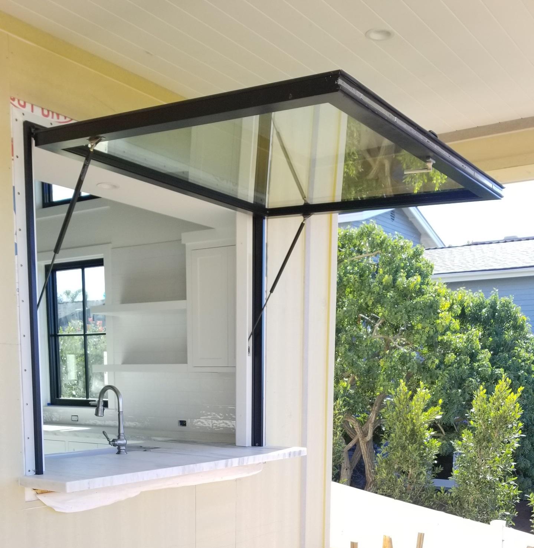 Gas Strut Awning Window Usa Pass Through Push Out Window In 2020 Awning Windows Awning Windows Kitchen Window Awnings