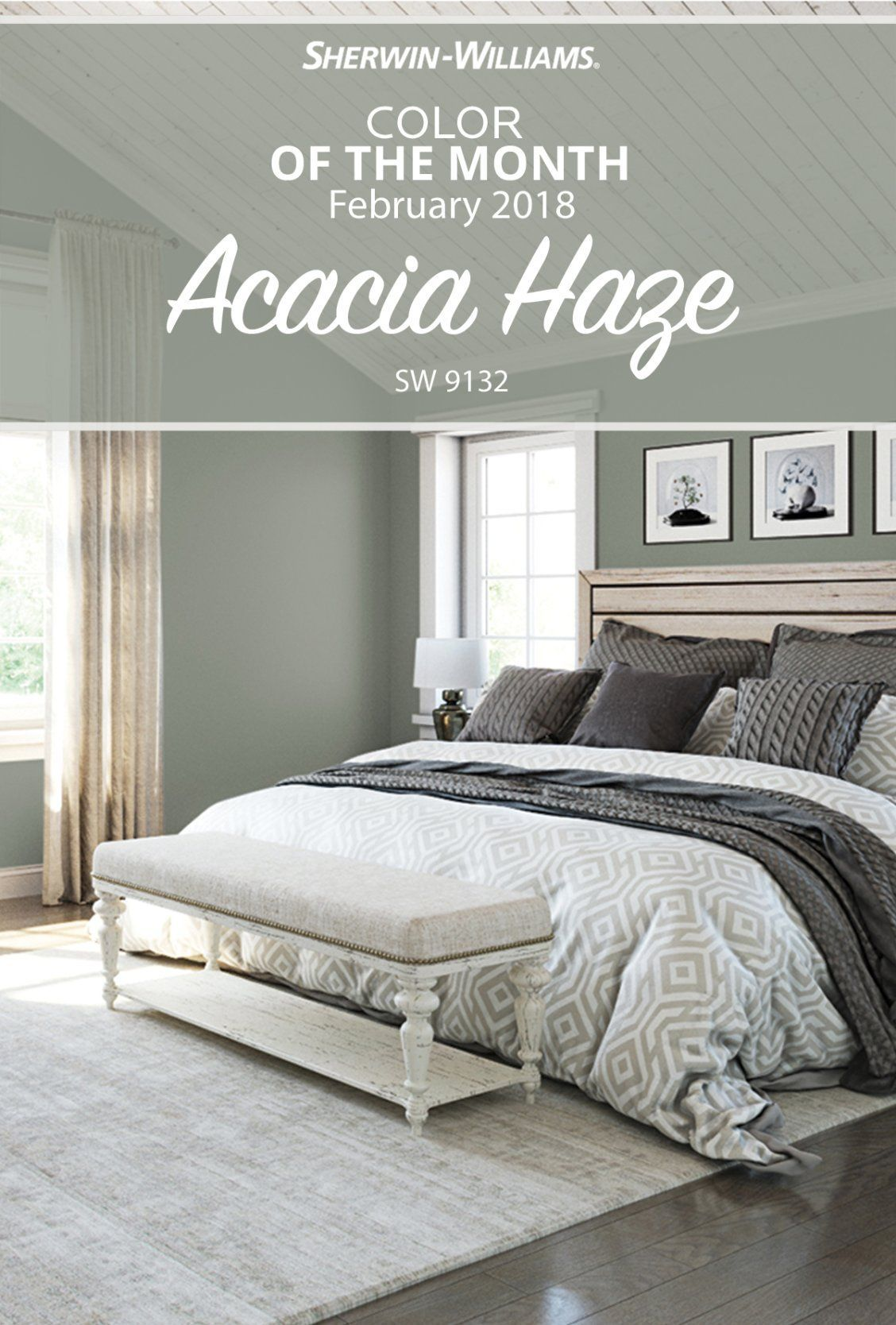 Curl Up In The Comfy Cozy And Oh So Classy February Color Of The Month Acacia Haze Sw Master Bedroom Colors Master Bedroom Paint Bedroom Paint Colors Master