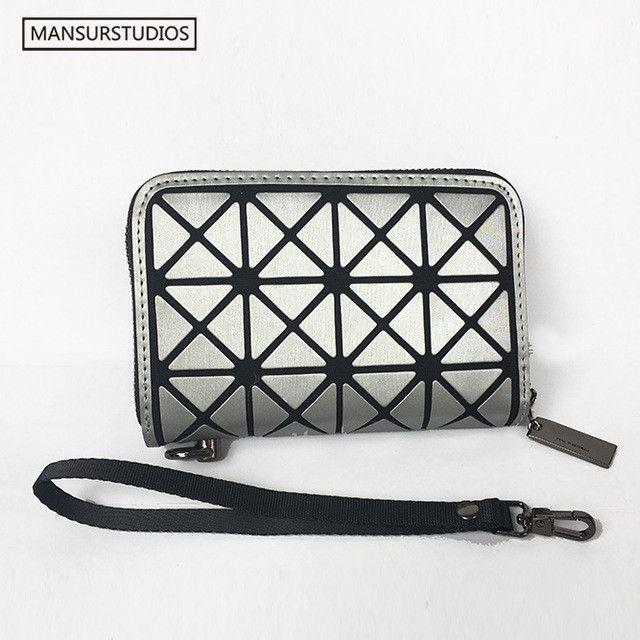 Newest MANSURSTUDIOS women fashion short wallet, Diamond lattice standard wallets baobao short purse,free shipping