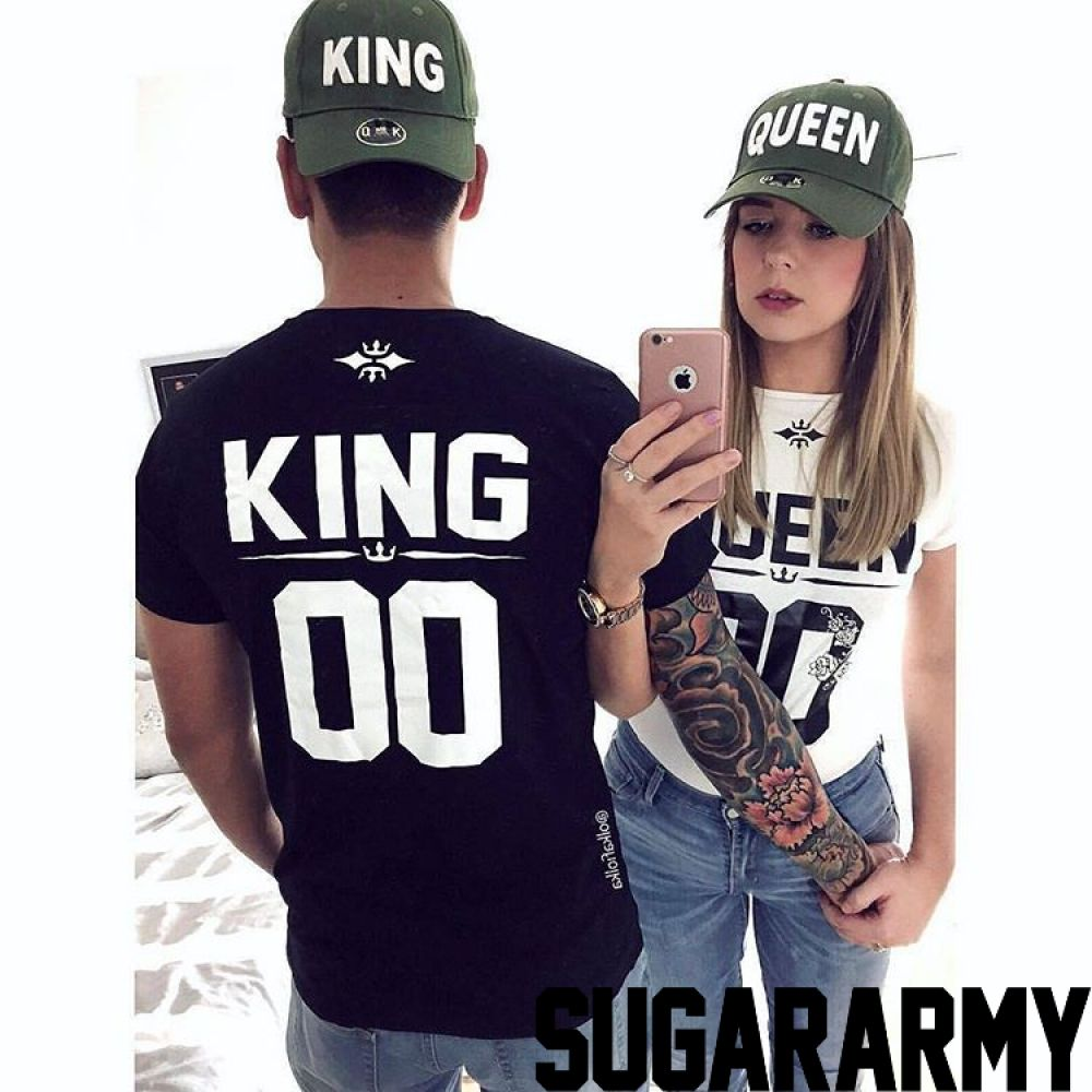 692efef3cc ROYALTY KING and QUEEN couples t-shirts ☆ CUSTOM NUMBER ...