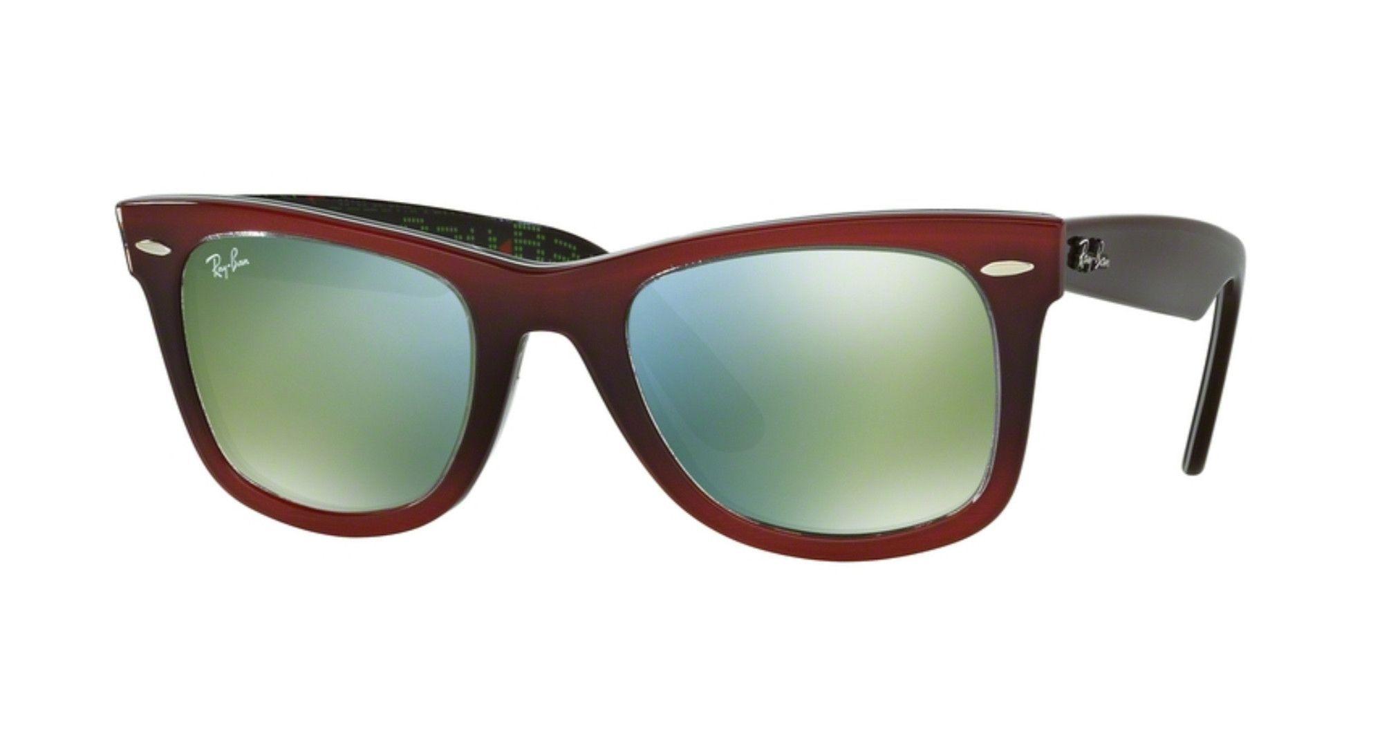 b61a3bfab1f0d Ray-Ban RB2140-12022X Gradient Red on Light Red Original Wayfarer Sunglasses