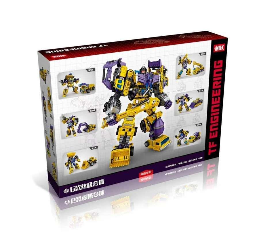 Transformers NBK Devastator Transformation Boy Toy Oversize Action Figure Yellow