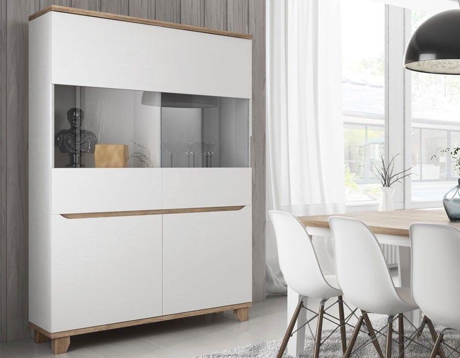 vaisselier scandinave blanc et couleur