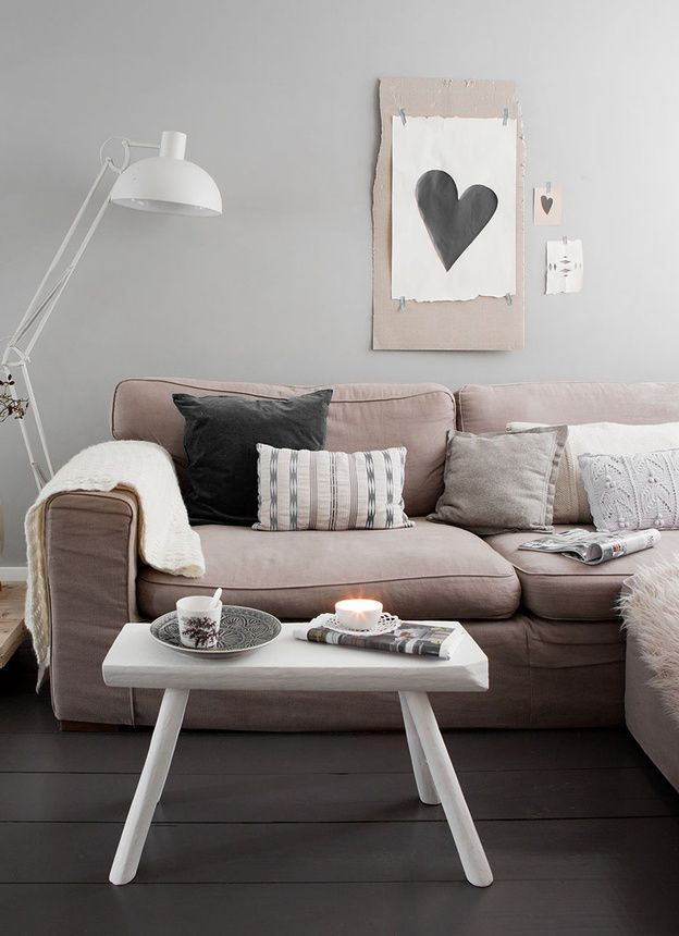 Neutre Home Ideas Pinterest Mon salon, Salon deco et Salon - Comment Decorer Un Grand Mur