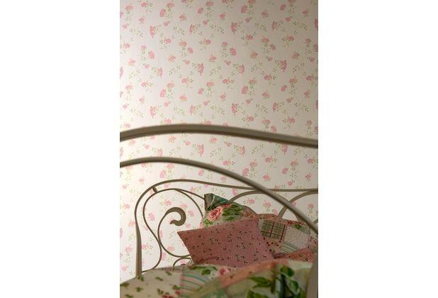 Schönes, romantisches Design durch rosa farbene Rosenblüten Diese - tapeten design schlafzimmer