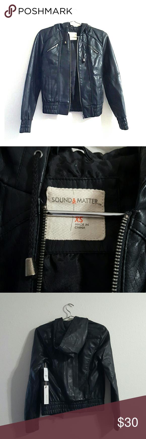 Sound & Matter faux leather jacket NWT Leather jacket