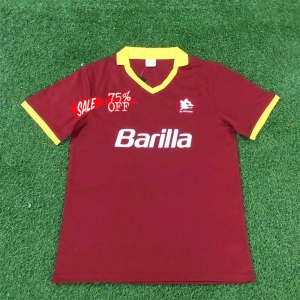 As Roma 1989 90 Wholesale Home Retro Cheap Soccer Jersey Sale Shirt As Roma 1989 90 Wholesale Home Retro Cheap Soccer In 2020 Soccer Shirts Custom Soccer Soccer Jersey