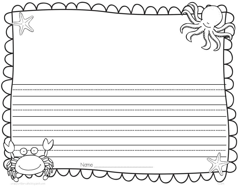 Writing paper handwriting 26 thematic templates for all year summer writing template whole sheet and 12 sheet lined 26 thematic templates for all year maxwellsz