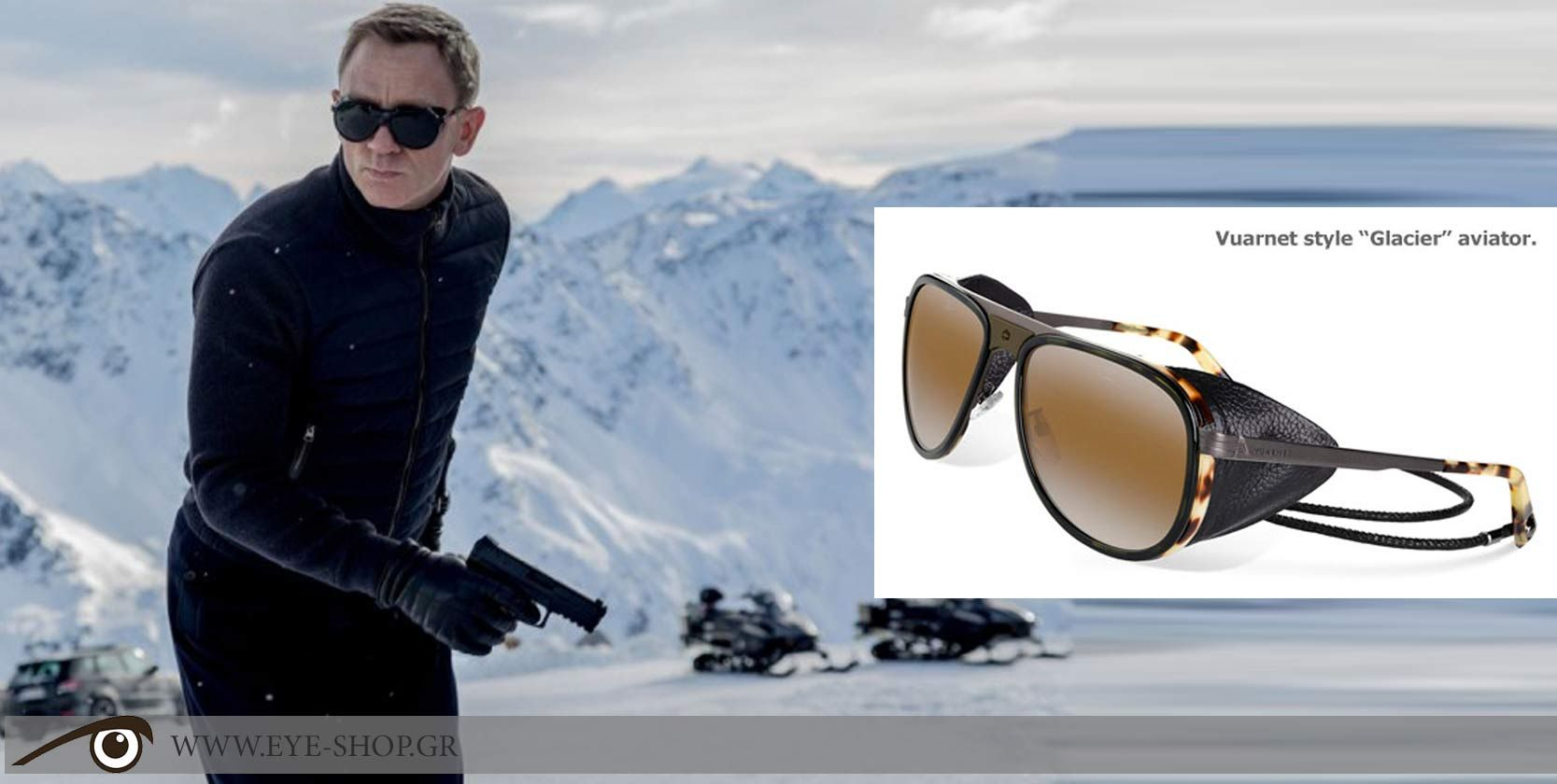 Image result for Bond Spectre Sunglasses: Vuarnet Aviator Sunglasses in spectre