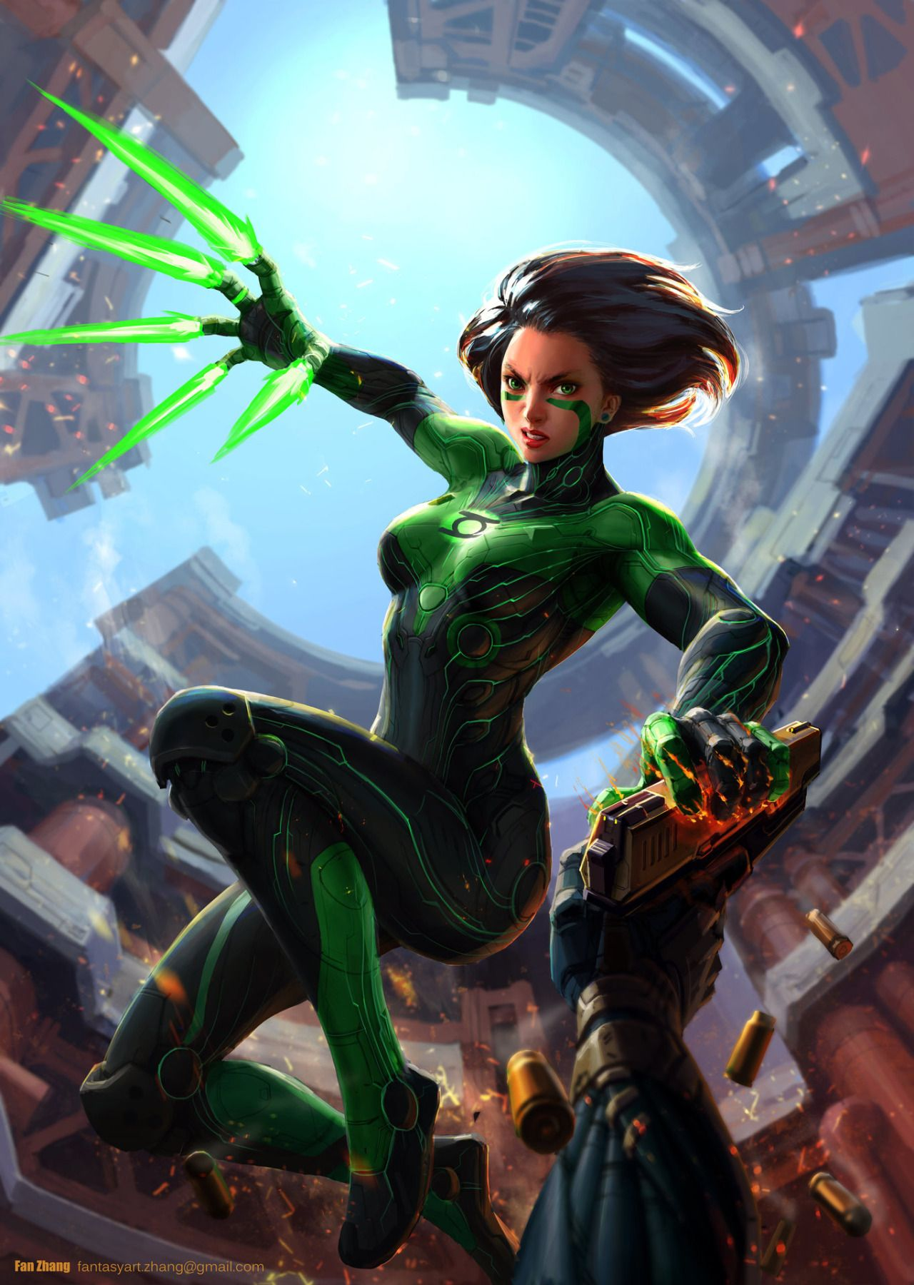 Female Green Lantern By Cyberdelics  Gallery Dcu -9926