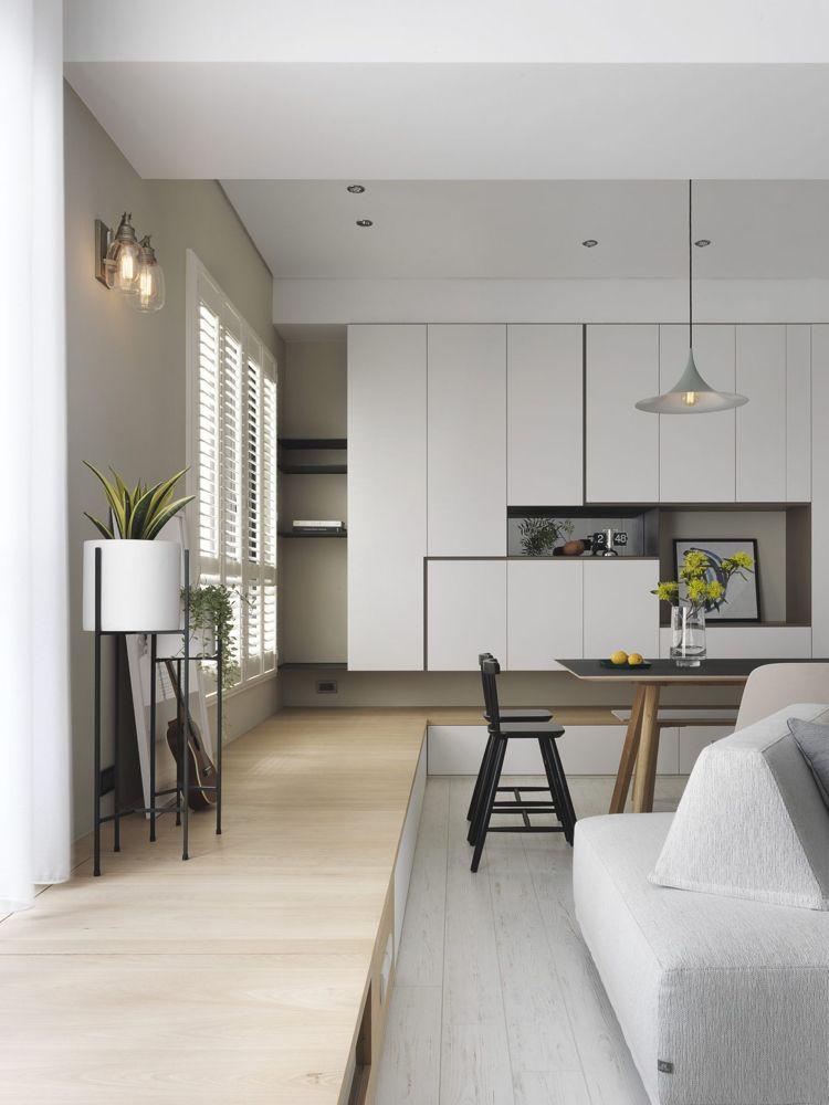 Farbe Grau Holz Moderne Wohnung  monrefnet