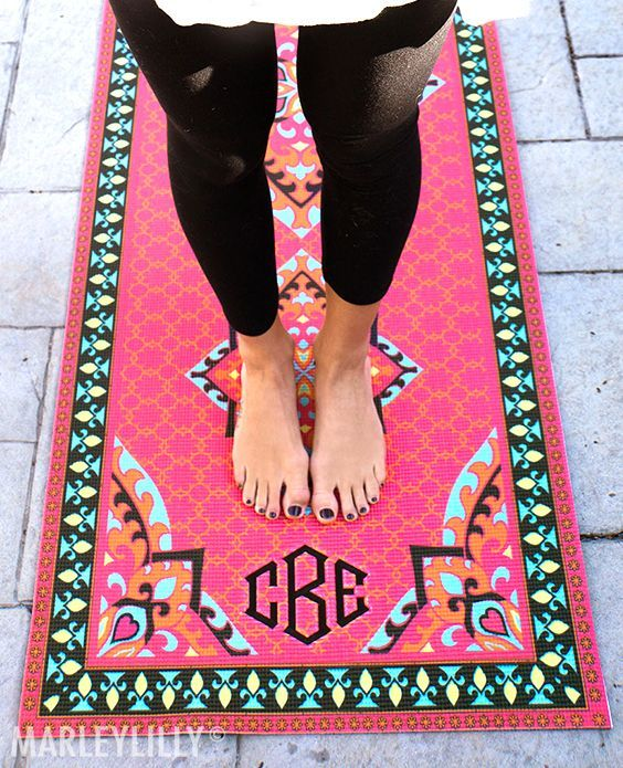 monogrammed own mats your mat pin on sassysoutherngals design personalized yoga to new etsy
