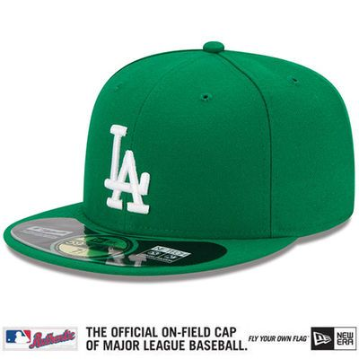 751f325e2465db New Era L.A. Dodgers Kelly Green St. Patrick's Day On-Field 59FIFTY Fitted  Hat