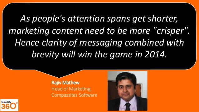 Expert Predictions on how marketing will be in 2014