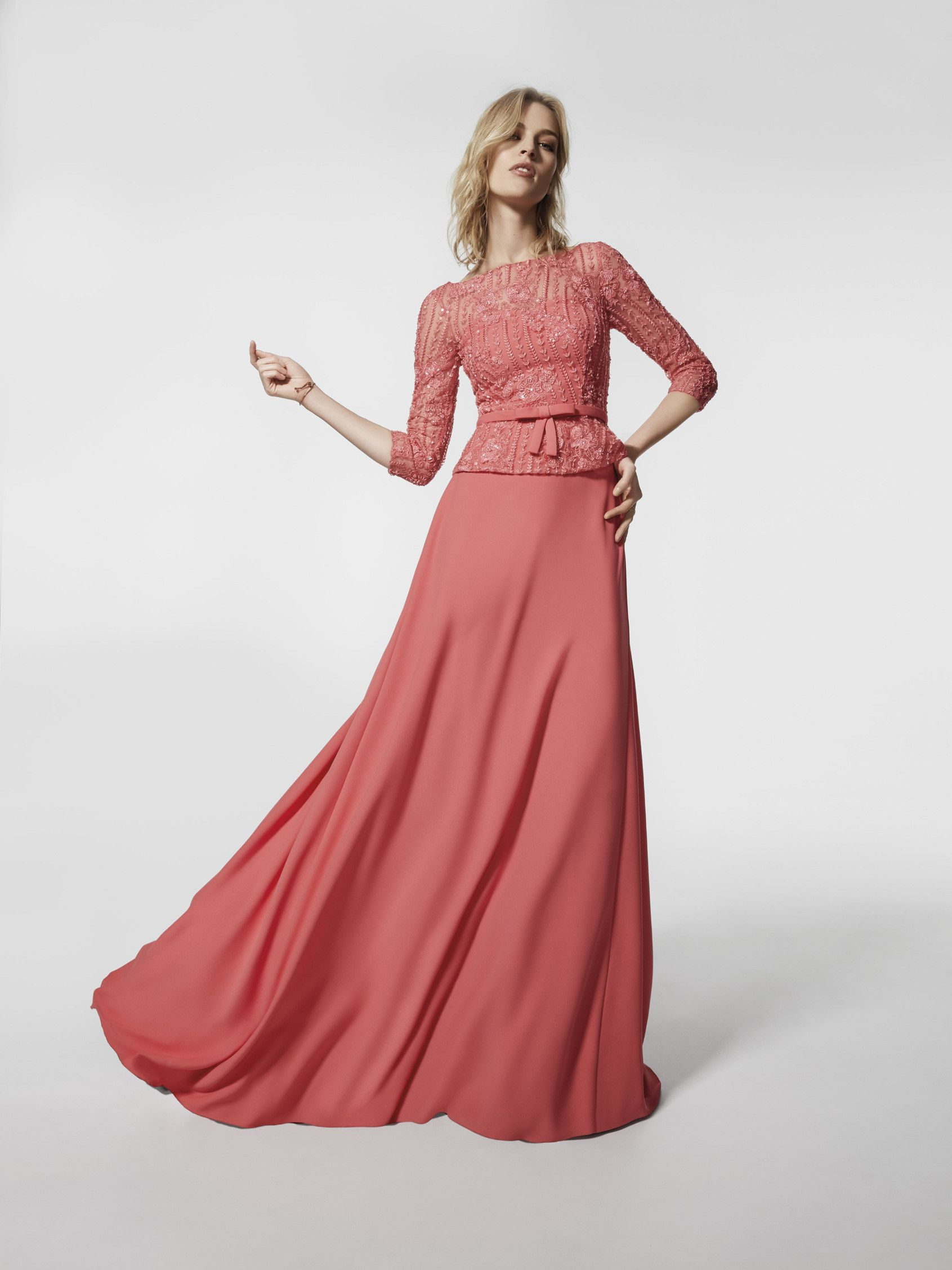 Are you looking for a cocktail dress? This is a long pink dress ...