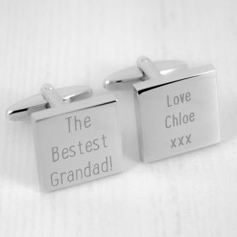 Engraved The Bestest Grandad! Cufflinks