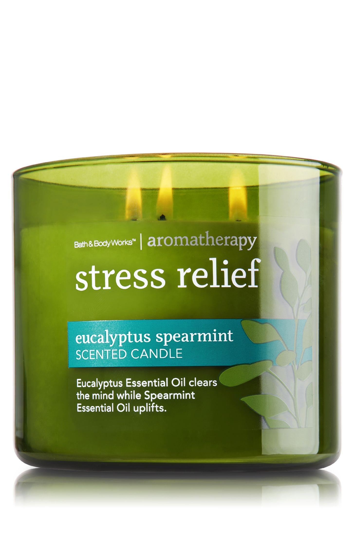 Eucalyptus Spearmint 14 5 Oz 3 Wick Candle Aromatherapy Bath Body Works Aromatherapy Stress Relief Aromatherapy Candles Bath Candles