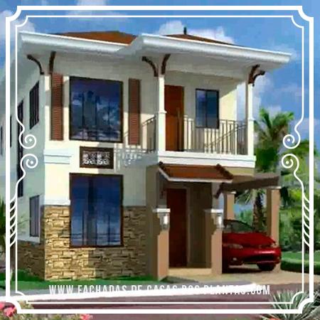Resultado de imagen para casa de dos plantas modelos de for Modelos de casas pequenas de 2 pisos