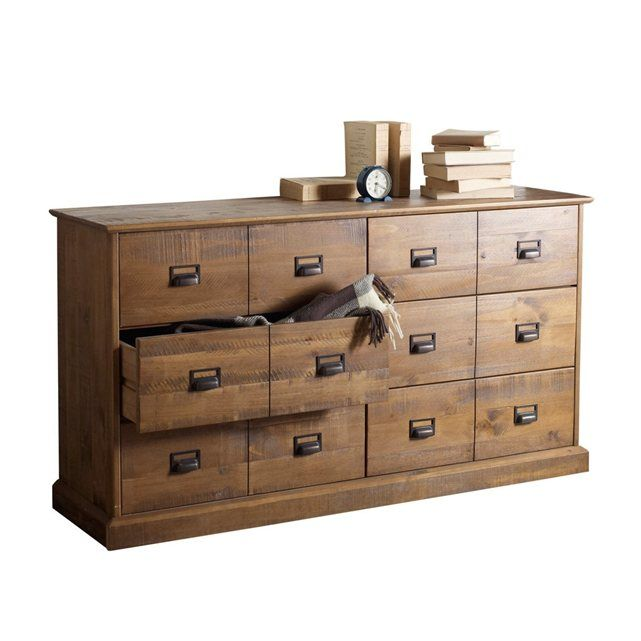 commode pin massif 6 tiroirs lindley meubles. Black Bedroom Furniture Sets. Home Design Ideas