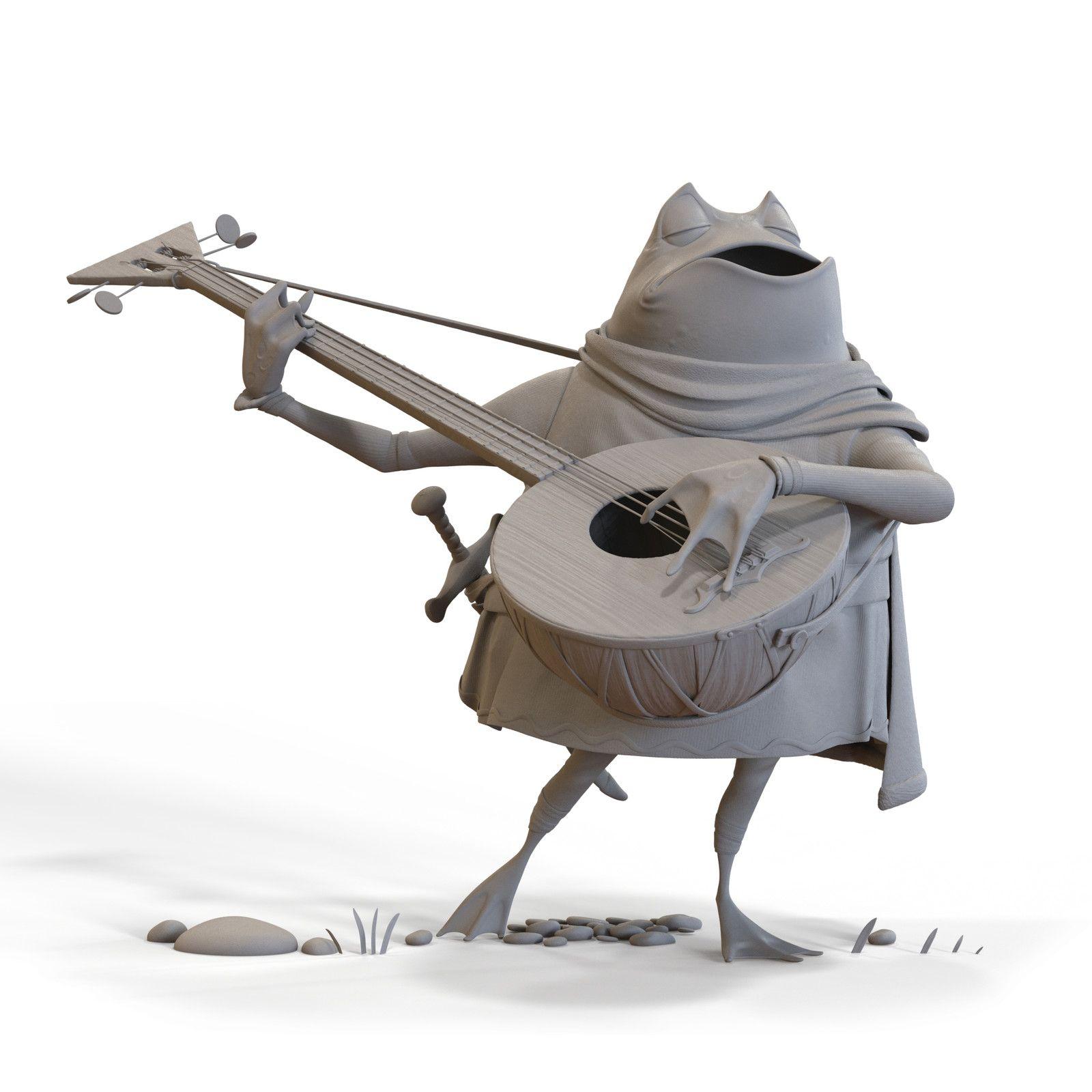 Singing Frog, Christopher Wright on ArtStation at https://www.artstation.com/artwork/21mlK