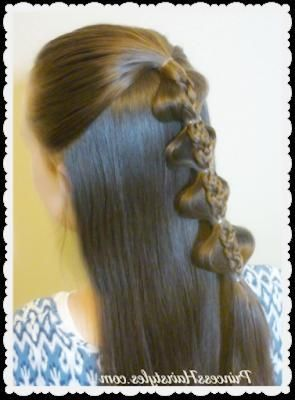 Waterfall Braid    Mine always come out messy, but I wanted to pin this because it is SO pretty. # water fall Braids tutorial