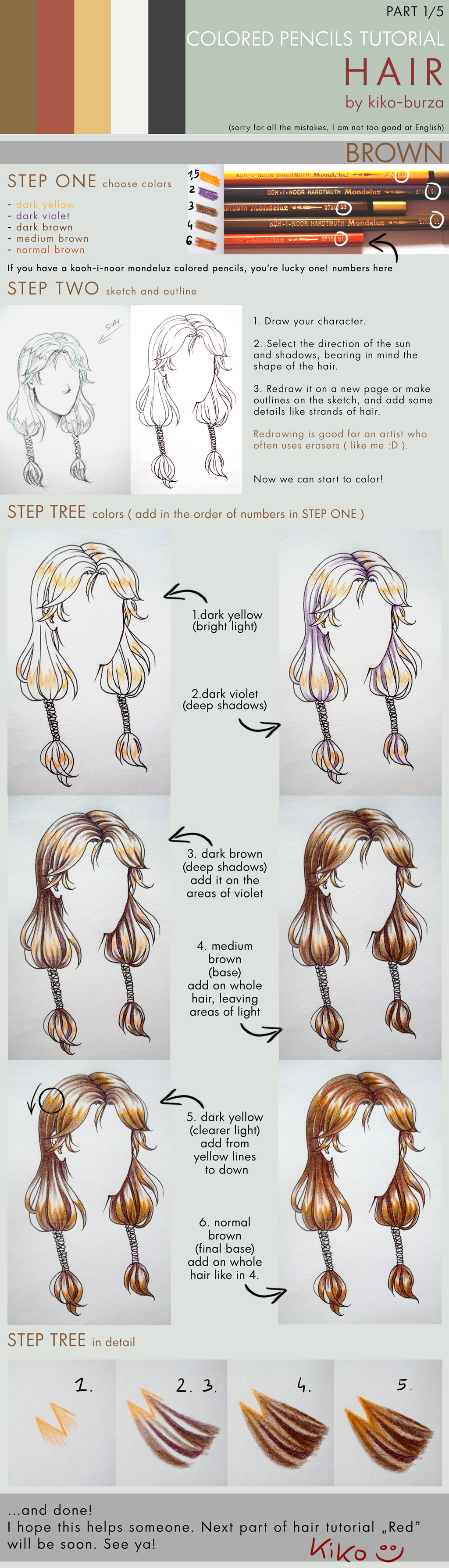 Tutorial - Working in Layers with Colored Pencils step by step ...