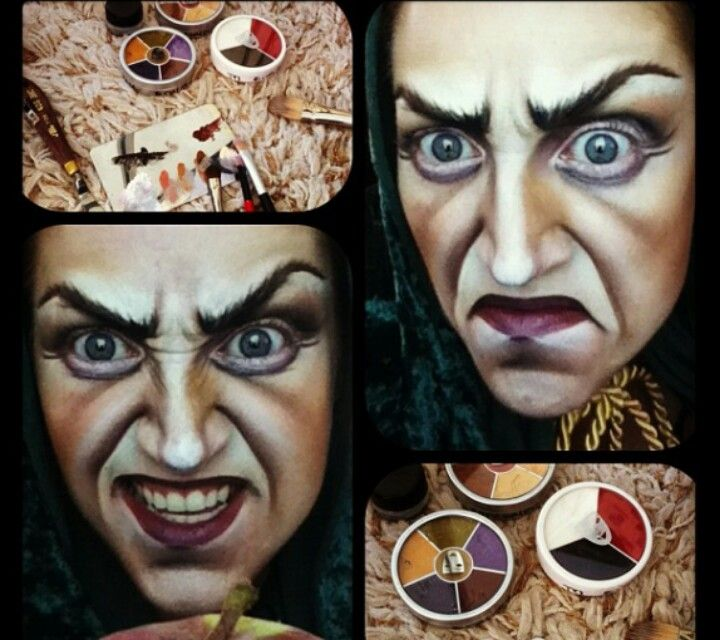 Evil witch make-up Too scary for PreK? Couture MKP/ Fantasy MKP - face painting halloween ideas