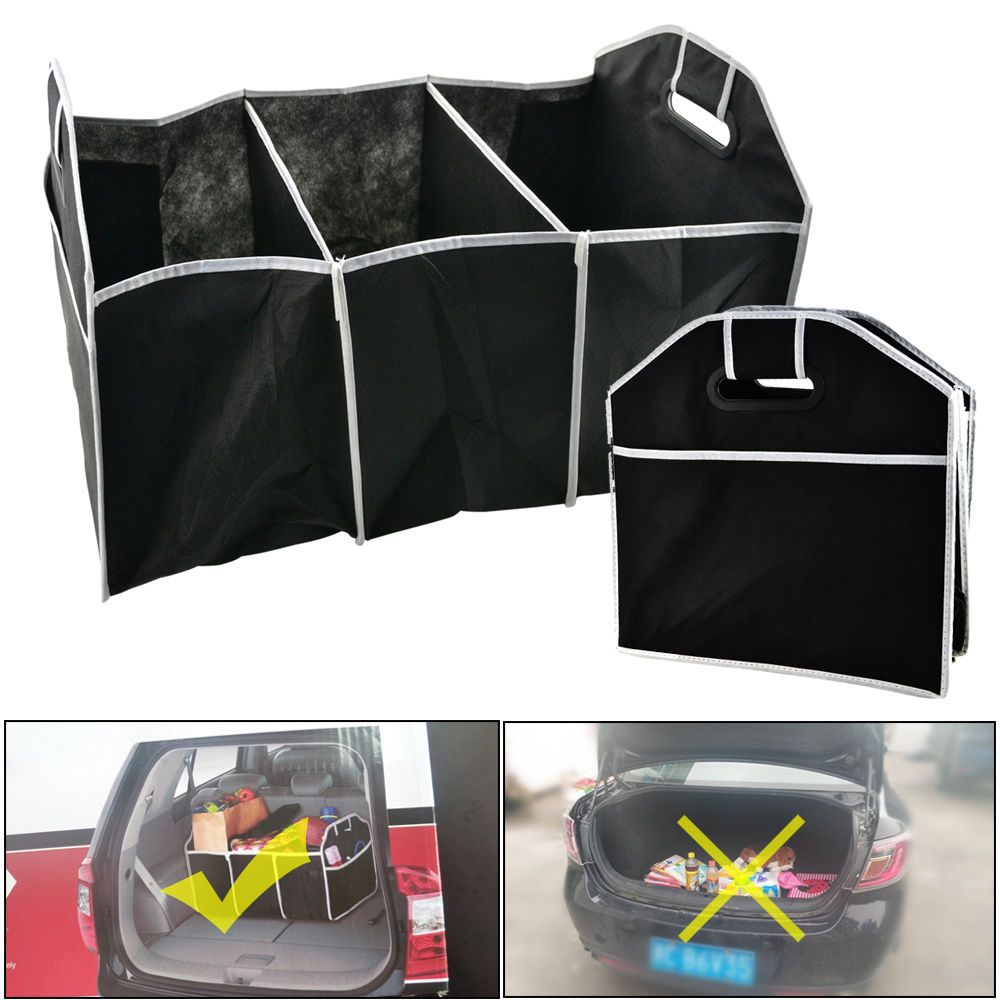 2 In 1 Car Boot Organiser Ping Tidy Heavy Duty Collapsible Foldable Storage