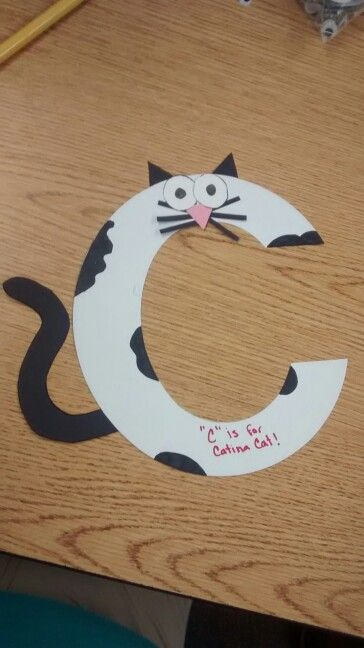Zoo Phonics C Is For Catina Cat Craft Zoo Phonics Letter