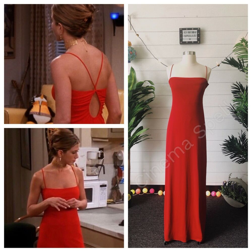 Identical Red Gown Dress To The One Seen On Rachel Green Played By The Lovely Jennifer Aniston In Friends If You Like Rachel S Wardrobe Outfits And Styl Ball [ 1000 x 1000 Pixel ]