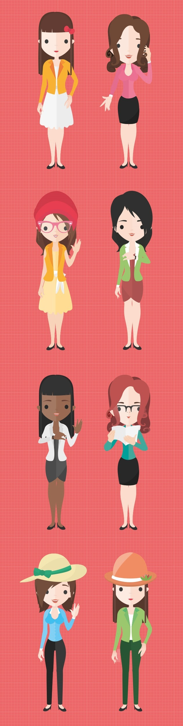 Flat Characters Cartoon Design Character Design Character Concept