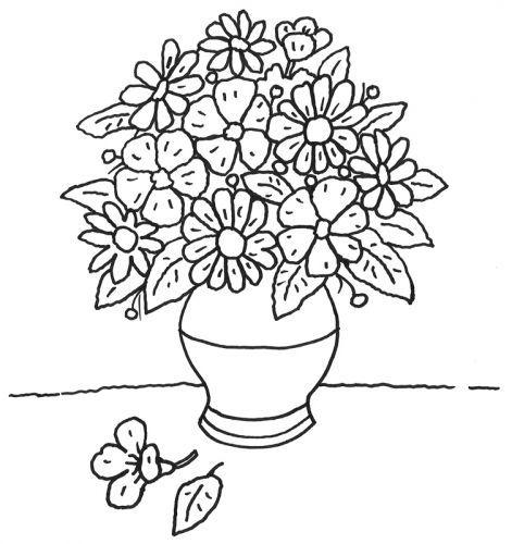 Muttertag: Ausmalbild: Blumentopf zum Ausmalen | malvorlagen ...